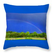 Etowah Rainbow Throw Pillow