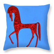 Etruscan Horse #2 Throw Pillow