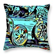 Ettore's Dream Cars Throw Pillow