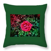Etude  With       Rose -oil Throw Pillow