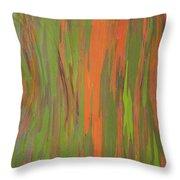 Eucalyptus Abstract Throw Pillow