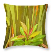 Eucalyptus And Leaves Throw Pillow