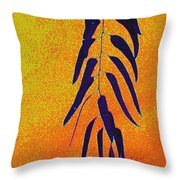 Eucalyptus Leaves Abstract Throw Pillow
