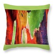 Eucalyptus Tree Bark Two Throw Pillow
