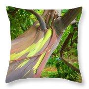 Eucalyptus Tree Throw Pillow