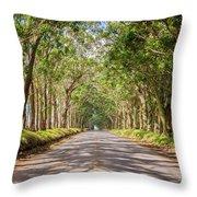 Eucalyptus Tree Tunnel - Kauai Hawaii Throw Pillow