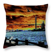 Eugene Talmadge Memorial Bridge And The Serious Politics Of Necessary Change No. 1 Throw Pillow