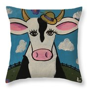 Eunice's Hat Throw Pillow