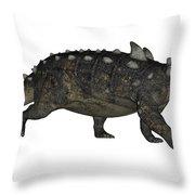 Euoplocephalus Dinosaur Throw Pillow