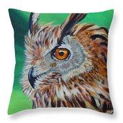 Eurasian Eagle-owl Throw Pillow