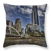 Eureka Tower-view From Cityside Throw Pillow