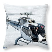 Eurocopter Ec130 With Fantastic Livery Throw Pillow