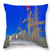 Europa Docks In Sydney Throw Pillow