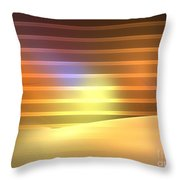 Europa Sunrays Throw Pillow