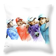 European Golf Champions Race 2017 Throw Pillow