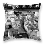 European Rooftops Throw Pillow