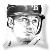Evan Longoria Throw Pillow