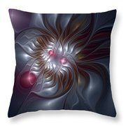 Evanescing Emanations Throw Pillow