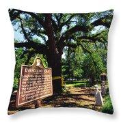 Evangeline Oak St Martinville Louisiana Throw Pillow