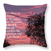 Evangelism Prayer Throw Pillow
