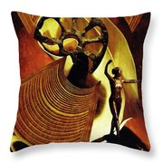 Eve Balanced On A Tightrope Throw Pillow by Sarah Loft