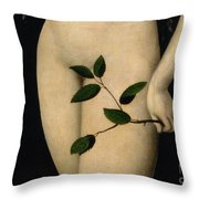 Eve Throw Pillow by The Elder Lucas Cranach