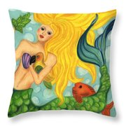 Eve The Mermaid Throw Pillow