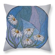 Even Daisies Get The Blues Throw Pillow