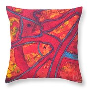 Even Fishes Love Red Throw Pillow