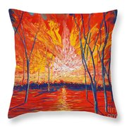 Even The Trees Get The Blues Throw Pillow