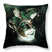 Even With Her Mask, Her Eyes Give Her Away Throw Pillow