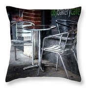 Evening At A Sidewalk Cafe Throw Pillow