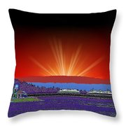 Evening At Alki Throw Pillow