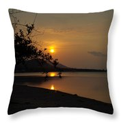 evening at Bophut Bay Throw Pillow