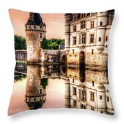 Evening At Chenonceau Castle Throw Pillow