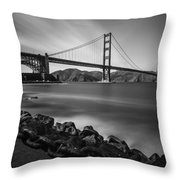 Evening At Golden Gate Bridge Throw Pillow