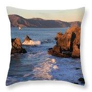 Evening At Land's End Throw Pillow