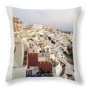 Evening At Santorini Throw Pillow