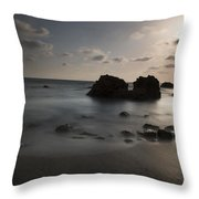 Evening At Sidna Ali Beach 1 Throw Pillow
