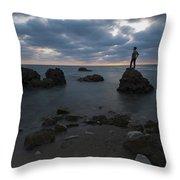 Evening At Sidna Ali Beach 3 Throw Pillow
