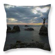 Evening At Sidna Ali Beach 2 Throw Pillow