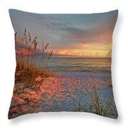 Evening At The Beach Throw Pillow