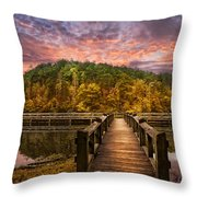 Evening At The Lake Throw Pillow