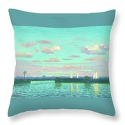 Evening At The Waterside Throw Pillow