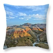 Evening At Yellow Mounds 2 Throw Pillow