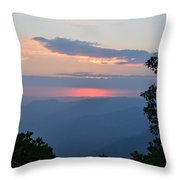 Evening At Yosemite  Throw Pillow