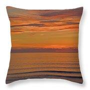 Evening Beach Walk Throw Pillow