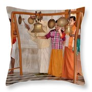 Evening Bells At The Temple Throw Pillow