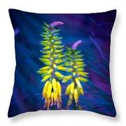 Aloe Flowers Throw Pillow