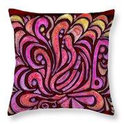 Evening Bonfire Throw Pillow